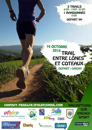 Affiche Trail entre Lônes et Coteaux (69) - 16 October 2016