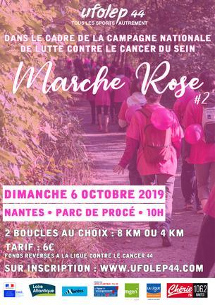 Affiche Marche Rose UFOLEP 2019 - 6 October 2019