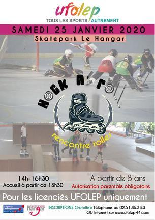 Affiche HOCK N'ROLL - Rencontre Roller UFOLEP - 25 January