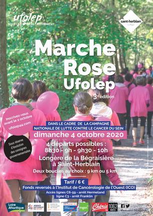 Affiche Marche Rose UFOLEP 2020 - 4 October 2020