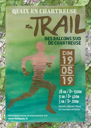 Affiche Trail des Balcons Sud de Chartreuse 2019 - 19 May 2019