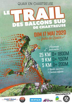 Affiche Trail des Balcons Sud de Chartreuse 2020 - 17 May