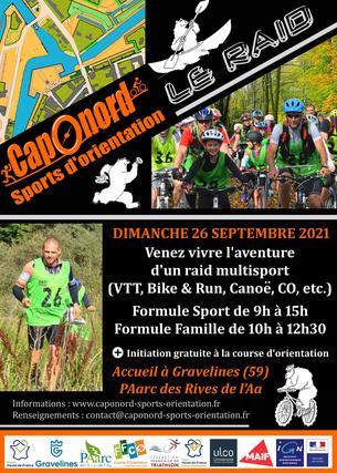 Affiche Raid CapOnord 2021 - 26 septembre 2021 - 26 September