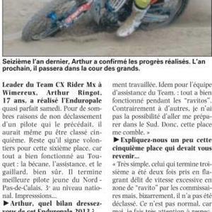 Chpt de France des sables - Enduropale Jeunes 2013 - 1/2 February 2013