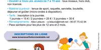 Stages vacances d'automne - Multisports / Tennis de table - 26/28 October